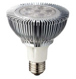 Par30 LED Bulb XP-E Dimmable 10W 90-120 VAC E26 25 Degree
