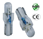 T6.5 Wedge 1 LED Round Top 12 Volt