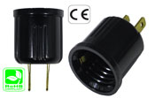 USA Plug male to E26-E27 female screw Converter Lampholder