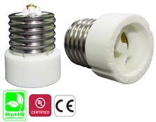 E27 Male to GZ10-GU10 Female Ceramic Adapter Converter