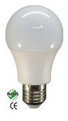 A60 11 Watt LED Bulb 120VAC 220 Degree Viewing E27