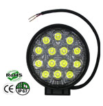 Work Light 42 Watt  60 Beam 9-30 Volt Black Round