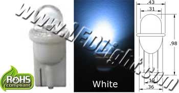 Short Round T10 Wedge LED Bulb NCNRNW