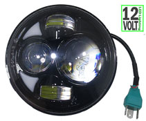 "Headlight LED 5.75"" 35 Watt High/Low Beam Round Motorcycle"