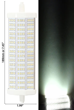 T3 20W LED Bulb 85-265VAC Double-Ended R7S Base 189mm