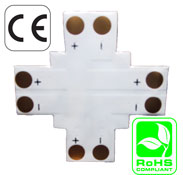Connector 10mm 4 Way 2 Conductor Solder Less PCB