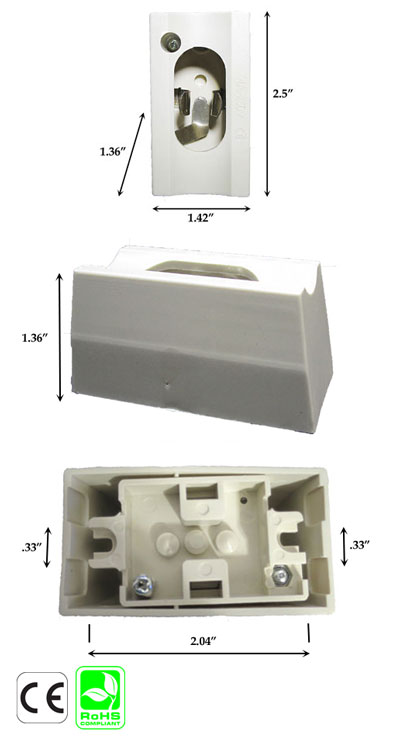 S14S Female Surface Wall Mount Socket Pair