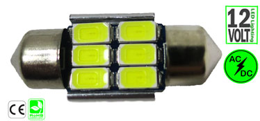 Festoon 3 Watt 31mm or 1-1/4-Inches 12 Non Polarity
