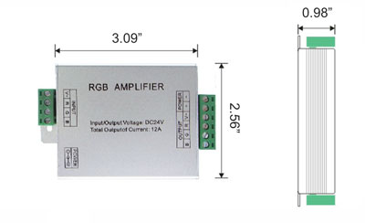 Amplifier 12V 144W 3 Channel 4 Amp Common Anode