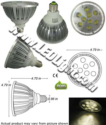 Par38 10.2 Watt LED Bulb 85-265 VAC E26 30 Degree