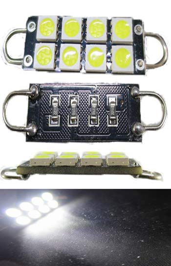 Festoon LED 44mm Rigid Loop 12V 8 5050 (3 chip) SMD