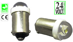 Miniature Bulb BA9S Base Short Round 24 Volts DC