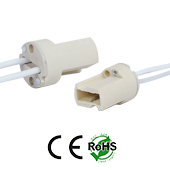 G9 female Ceramic Socket with wires