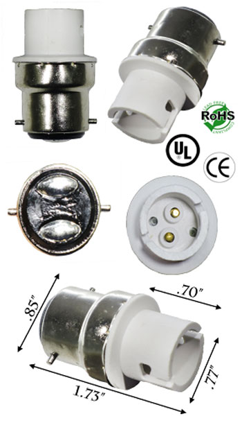 B22 Male To Ba15d Female Adapter Socket Converters