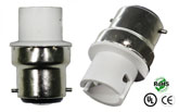 B22 male to BA15D female Adapter Socket