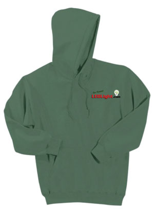 LED Light Go Green Hooded Jacket