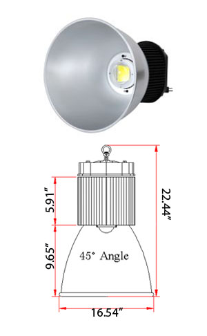 High Bay LED 120 Watt BridgeLux 100-277VAC