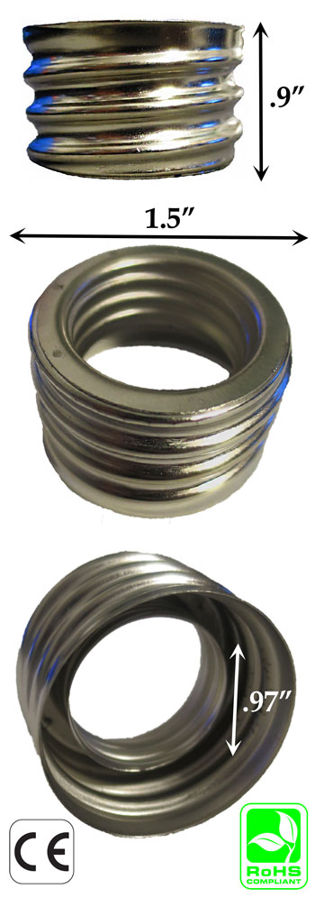 E39-E40 male to E26-E27 female Metal Ring Converter