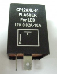 Flasher LED 12V DC 120W 2 Terminal Compatible With CF12ANL-01