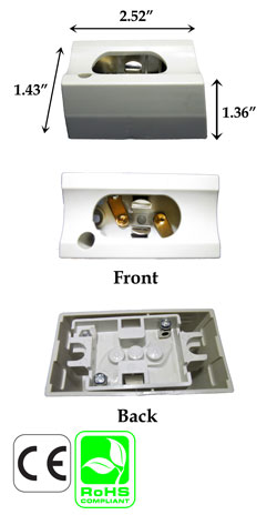 S14D female base Wall Surface Mount Socket