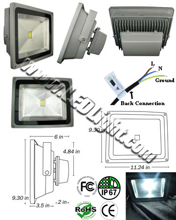 Outdoor LED Light Bulb 50 Watt IP66