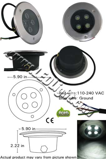 High Power 4 Watt LED Underground LED Lighting