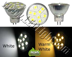 MR11 9 SMD LED LIGHT Low Voltage 12 Volt AC/DC