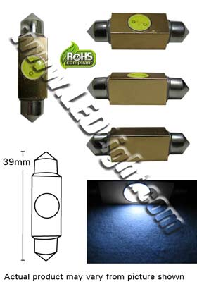 Festoon 39 mm 1.5 Watt LED 12 Volt DC