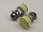 LED Headlight 6 Volt P15D-25-1 Base 60 SMD 5730 Dual Beam