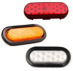 "6"" Oval Sealed Stop/Turn/Tail/Back-Up LED Light"