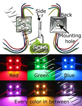 5050 LED Module Water Proof RGB Common Cathode NCNR