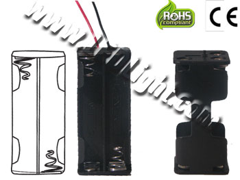 AA Battery Holder 2x2 with Wires
