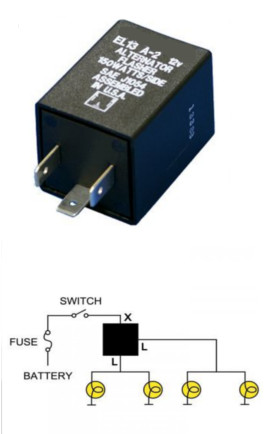 Flasher LED 12V DC 150W 3 Terminal Compatible with EL13A-2