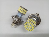 LED Headlight 6 Volt H4 Base 60 SMD 5730 Dual Beam