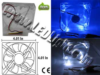 LED Computer Fan 120cm120xcm 4 LEDs 12 Vdc