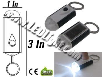 Water Proof Mini Solar Key chain Flashlight